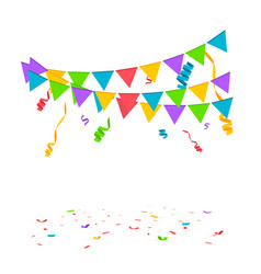 Confetti background birthday concept vector