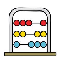 Cute cartoon maths abacus vector