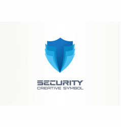 Cyber security shield creative symbol concept vector