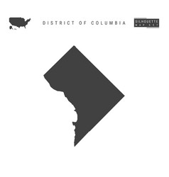 District columbia map isolated on white vector