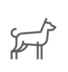 dog farm animal line icon 48x48 pixels vector image