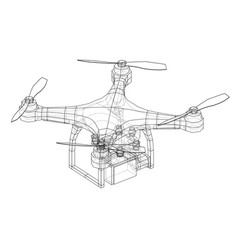 drone concept rendering of 3d vector image