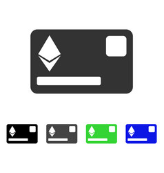 etherium credit card flat icon vector image