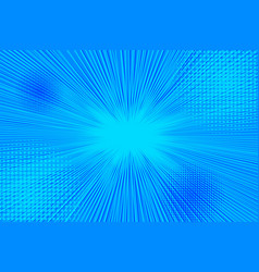 Explosive bursting bright blue background vector