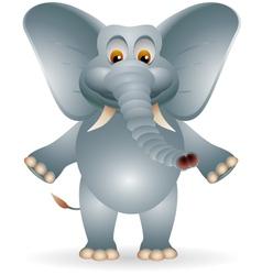 funny fat elephant cartoon vector image