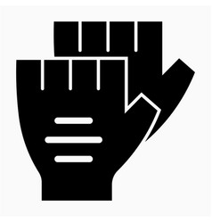 Glyph beautiful glove icon vector