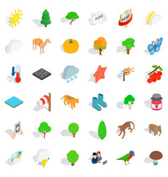 Good nature icons set isometric style vector