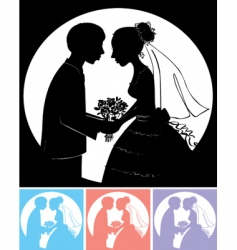 groom with bride vector image