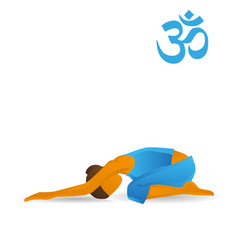 half-tortoise yoga pose vector image