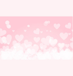 happy valentines day background with heart shape vector image