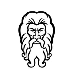 Head atlas greek god front view mascot vector