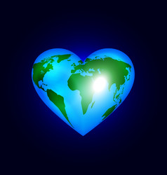 Heart of the world vector