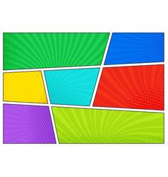 Horizontal comics backdrop bright template vector