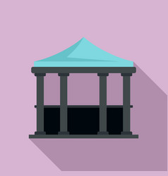 House gazebo icon flat style vector