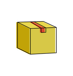 isolated box design vector image