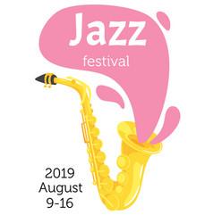 jazz poster backgroun vector image