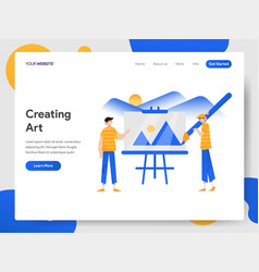 landing page template creating fine art vector image