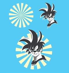 Manga cartoon vector