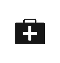 medical bag icon on the white background medical vector image