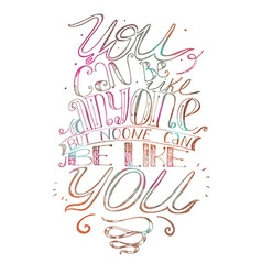 Motivating lettering about self-confidence and vector