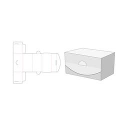 No glue packaging box die cut template design vector