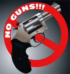 No guns revolver vector