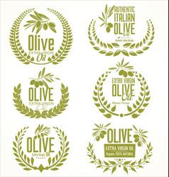 olive oil laurel wreath design elements vector image