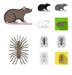 pest poison personnel and equipment cartoon vector image
