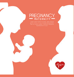 Pregnancy and maternity infograhic vector