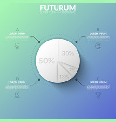 round paper white diagram divided into 4 sectors vector image