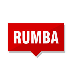rumba red tag vector image