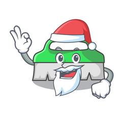 santa scrub brush mascot cartoon vector image