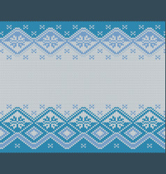 seamless knitted nordic pattern vector image