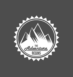 Set of vintage mountain explorer labels vector