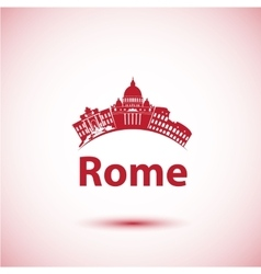 silhouette of Rome City skyline vector image