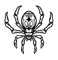spider vintage tattoo concept vector image