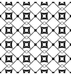 Square and star seamless pattern vector image