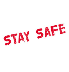 Stay safe rubber stamp vector