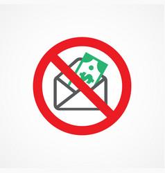 Stop corruption icon vector
