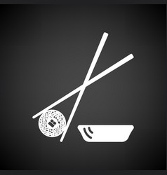 Sushi with sticks icon vector