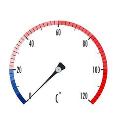 Temperature colored scale vector