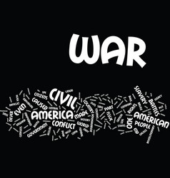 the civil war text background word cloud concept vector image
