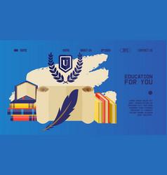 university website design educational books vector image