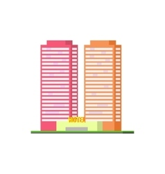 Urban Hotel Building vector