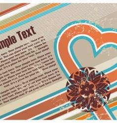 valentines retro grunge background vector image