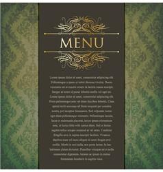 Vintage menu vector