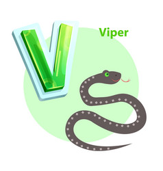 viper is for v letter in english alphabet for kids vector image