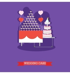 Wedding cake - stock vector