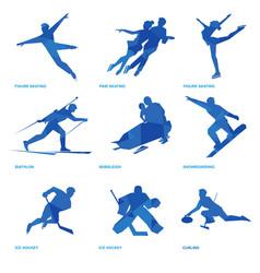 Winter sports icon set 2 vector