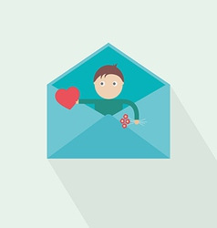 you have got mail love vector image